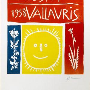Pablo Picasso Exposition Vallauris 1958 Linocut