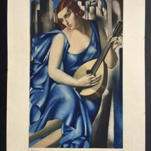 Tamara de Lempicka Femme a la Mandoline