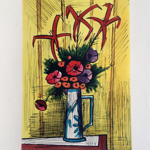flower bouquet by bernard buffet