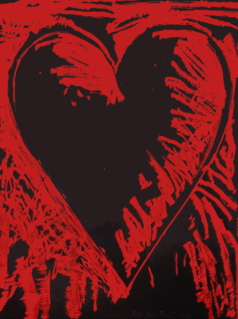 Jim Dine The Black and Red Heart
