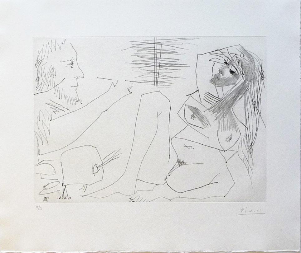 peintre et modele by pablo picasso