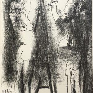 Pablo Picasso Le Peintre et son Modele Mourlot 400
