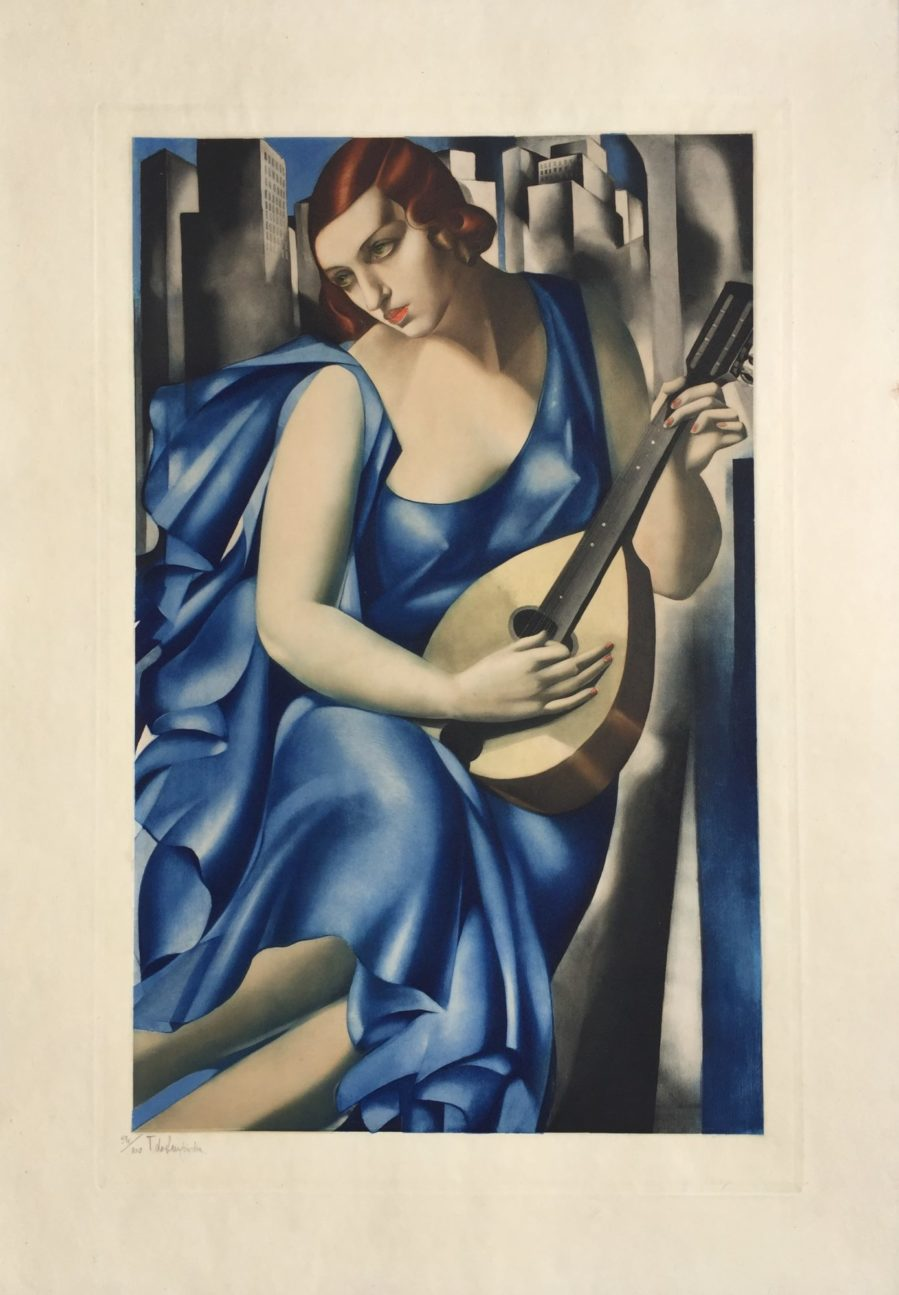 femme a la mandoline woman with mandoline by tamara de lempicka