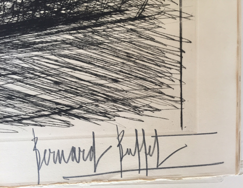 Bernard Buffet Peche Signed