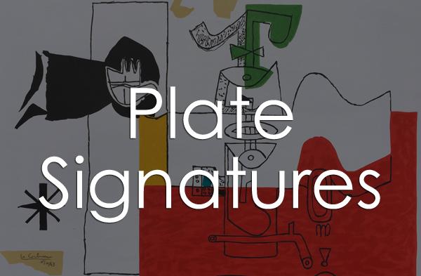 Plate Signatures