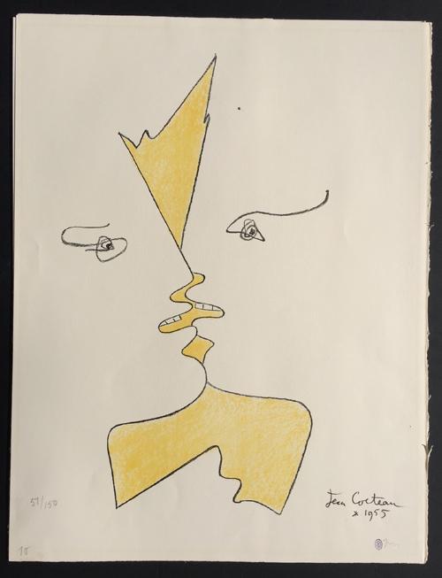 cocteau-the-kiss-lithograph