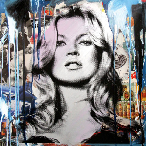 Mr. Brainwash Kate Moss (Blue)