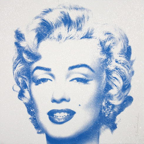Mr. Brainwash Diamond Girl - Marilyn Monroe (Blue)