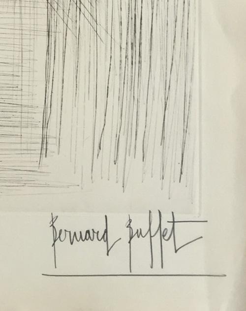 bernard-buffet-gazelle-1962-signed