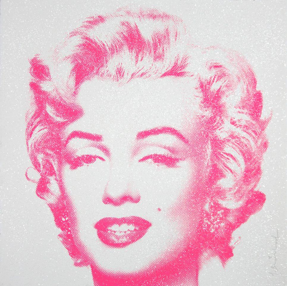 Mr. Brainwash Diamond Girl - Marilyn Monroe (Pink)