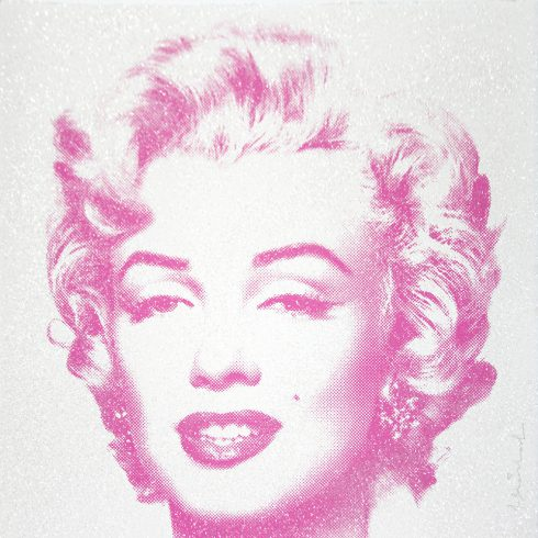 Mr. Brainwash Diamond Girl - Marilyn Monroe (Purple)
