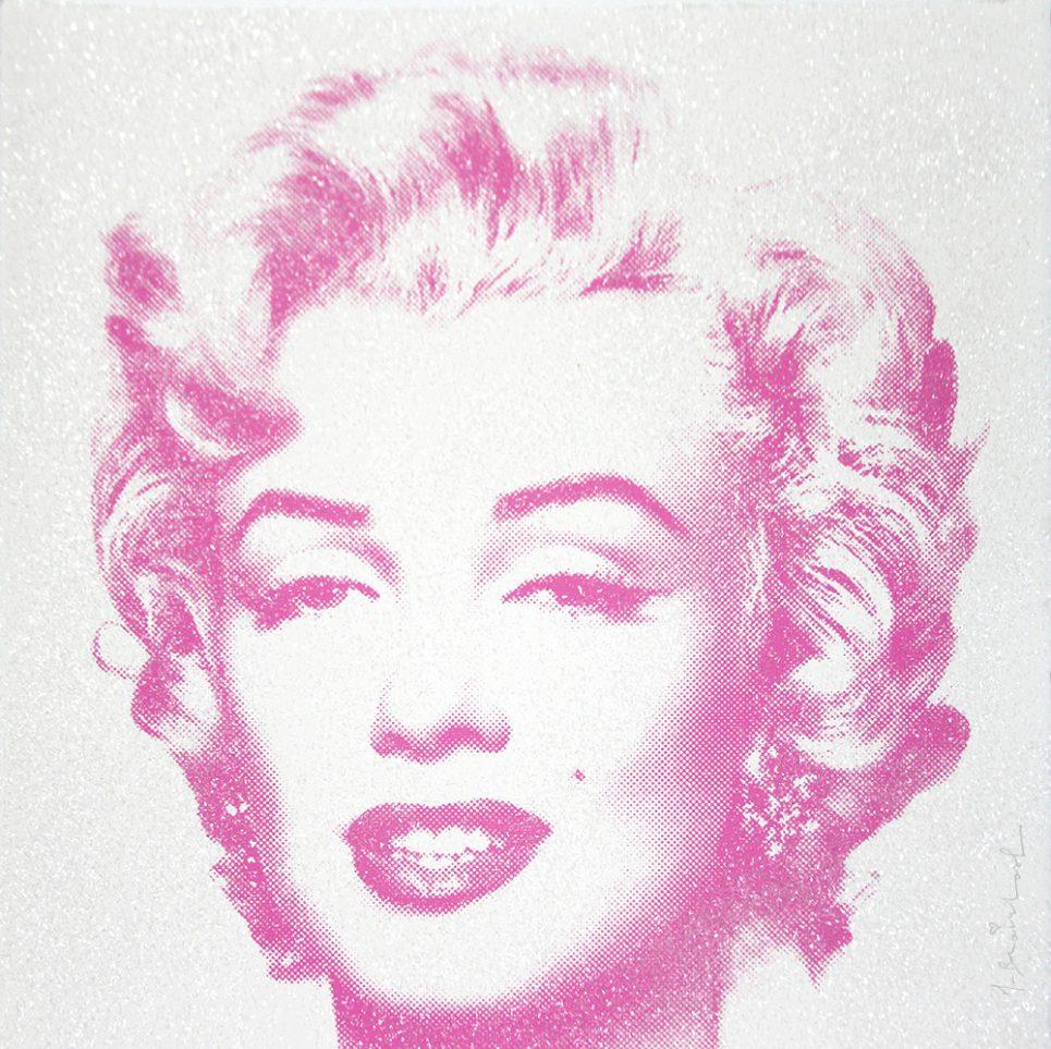 diamond girl Marilyn Monroe purple by mr brainwash