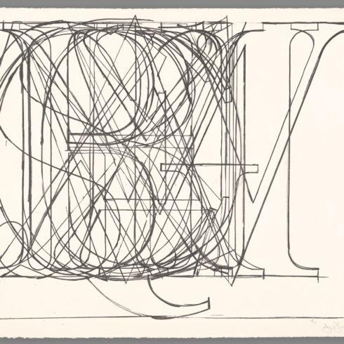 Alphabet by jasper johns