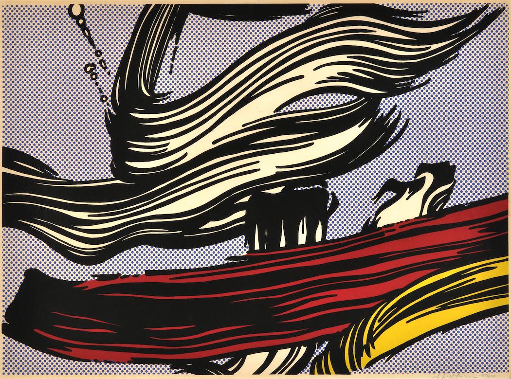brushstrokes 1967 by roy lichtenstein denis bloch fine art. Black Bedroom Furniture Sets. Home Design Ideas