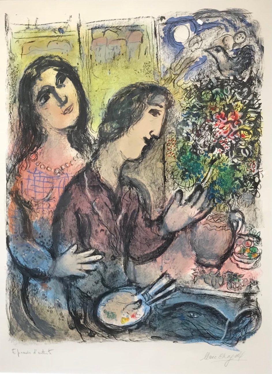 la femme du peintre by marc chagall