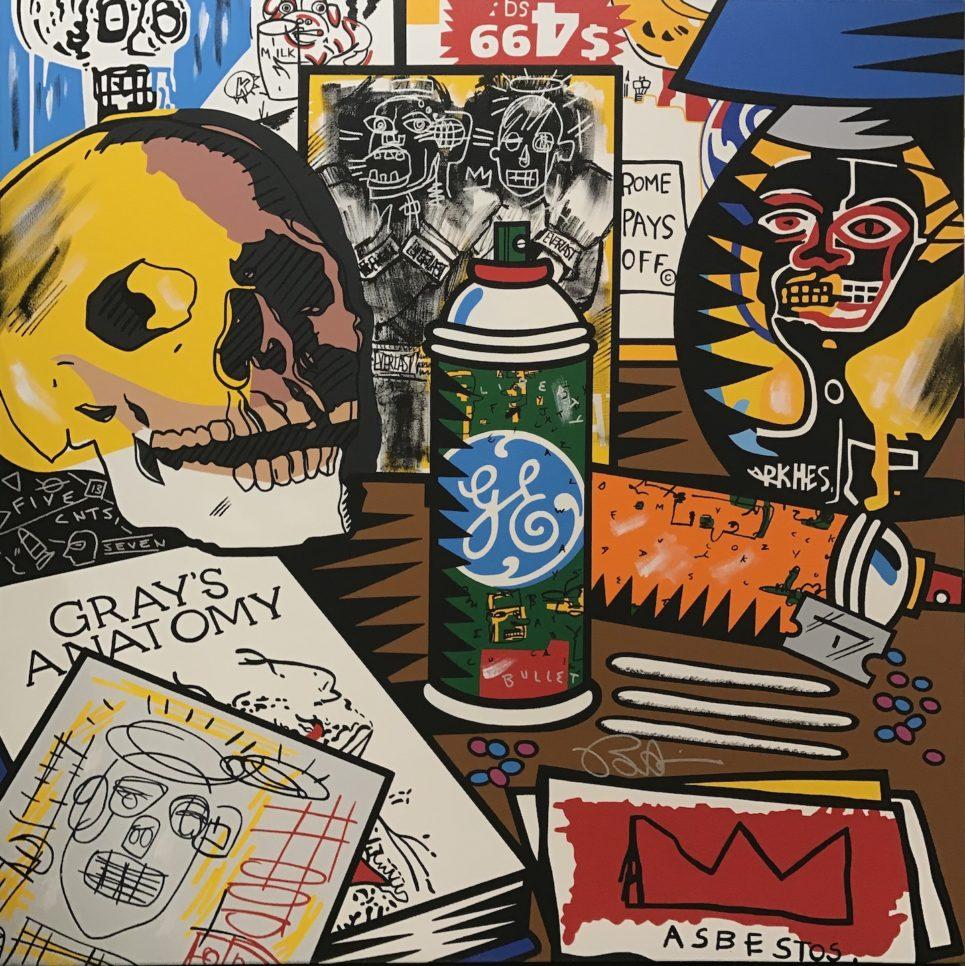 jean michel basquiat nightstand by burton morris