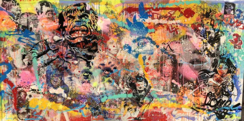 Untitled (Hulk, Chaplin, Wonder Woman) by Cedric Bouteiller