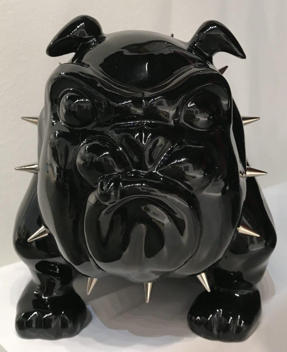 bulldog black shiny by frederic avella