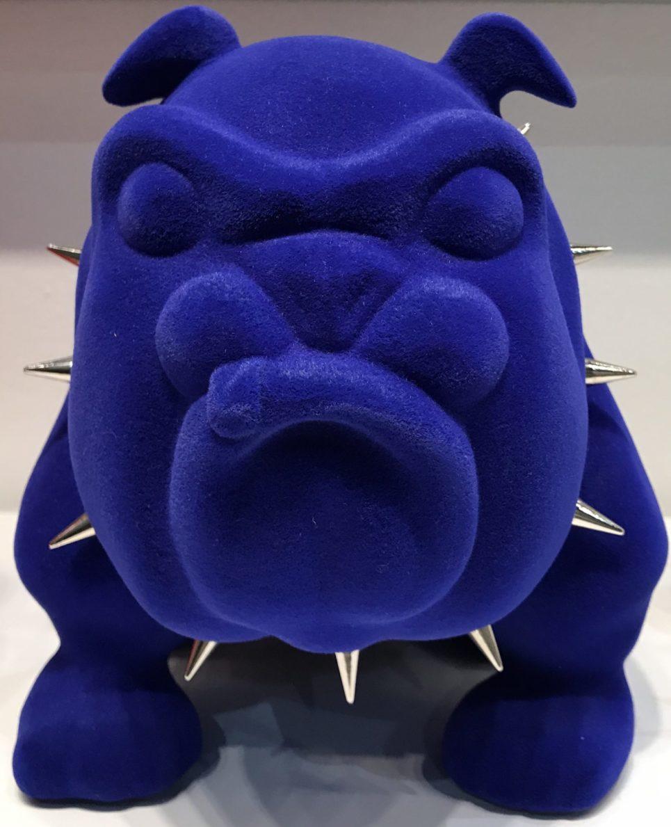 bulldog blue velvet by frederic avella