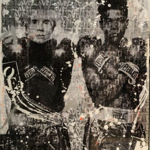 Warhol and Basquiat by Cedric Bouteiller