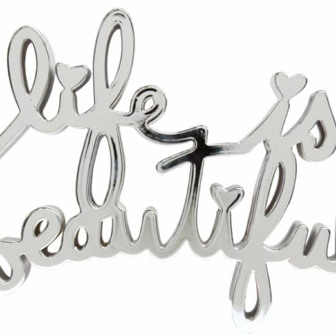 life is beautiful hard candy chrome by mr brainwash