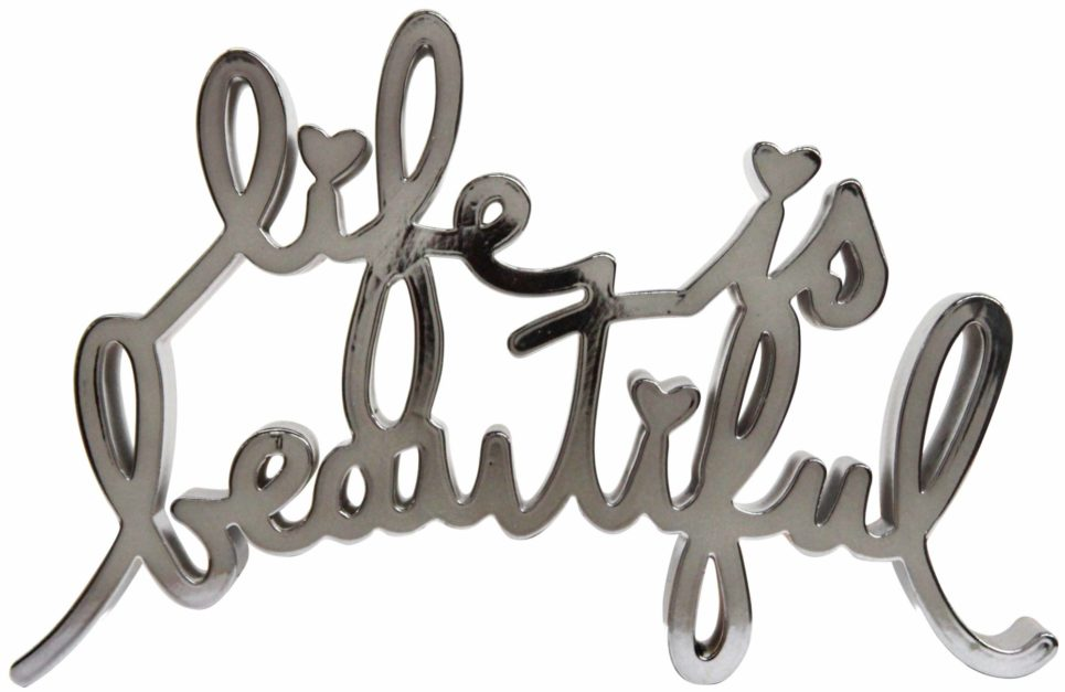 life is beautiful hard candy silver by mr brainwash