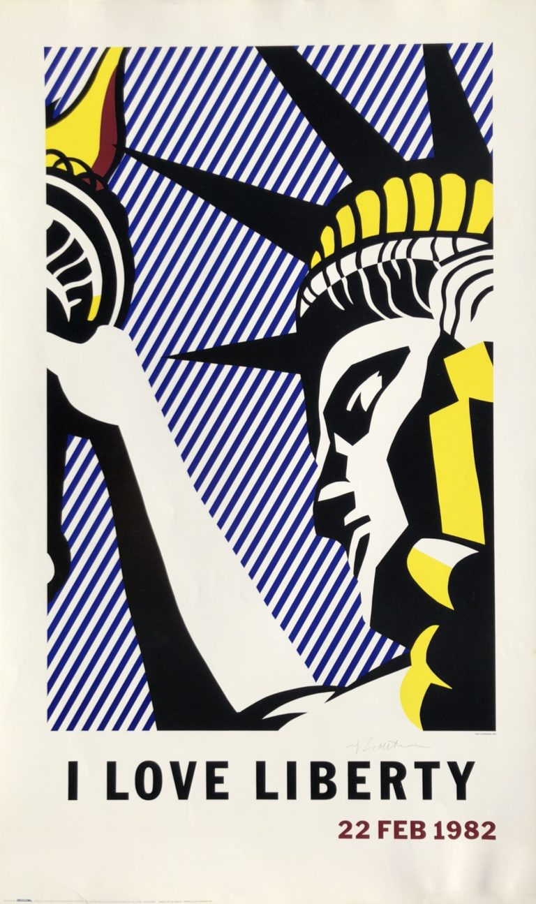 i love liberty by roy lichtenstein
