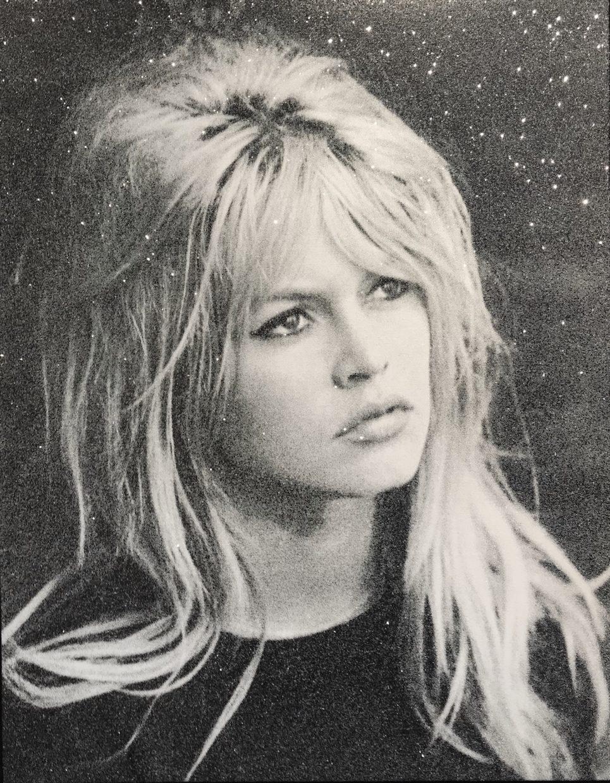 Brigitte Bardot - Blanc et Noir by Russell Young