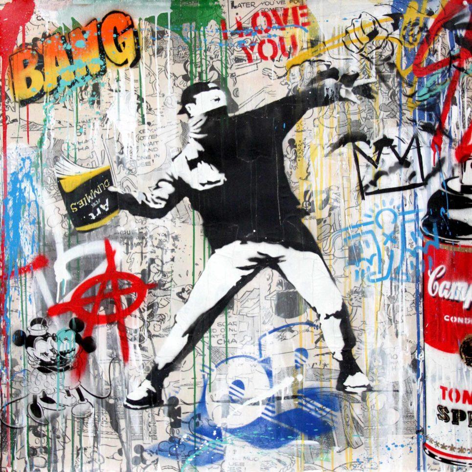 banksy thrower by mr brainwash