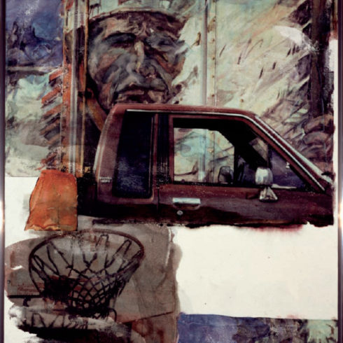 Robert Rauschenberg Untitled (Native American with Truck)