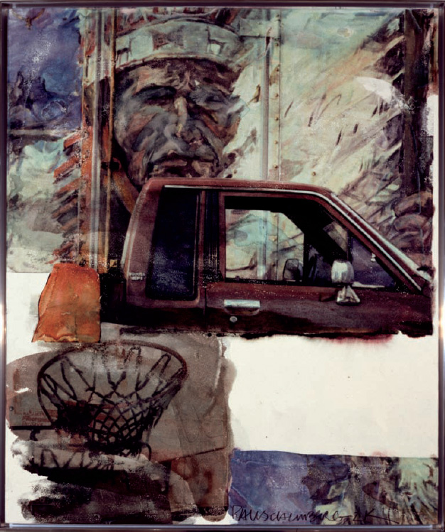 Robert Rauschenberg Untitled (Native American with Truck)
