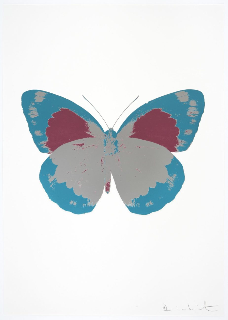 the souls ii silver gloss topaz loganberry pink by damien hirst