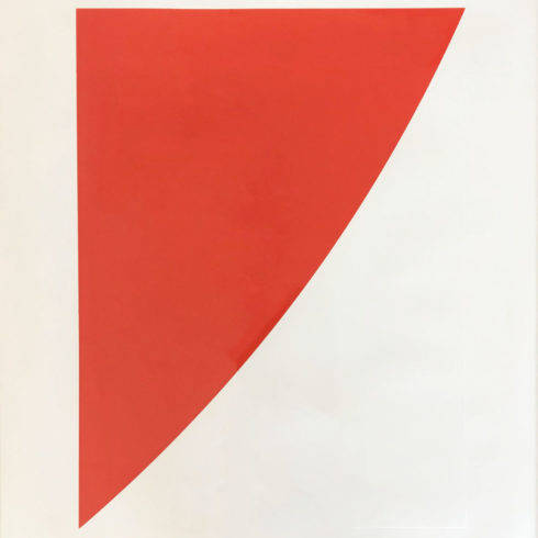 untitled(red) by ellsworth kelly-