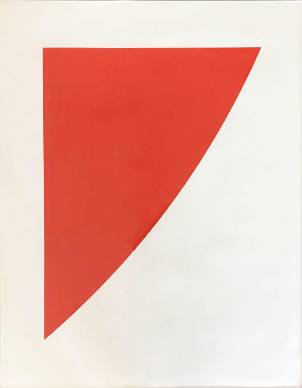 untitled (red) by ellsworth kelly