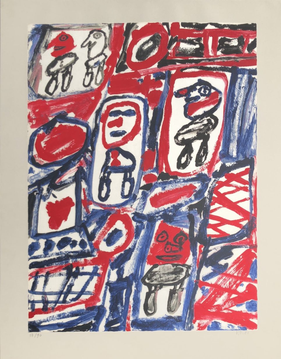site avec 5 personnages by jean dubuffet