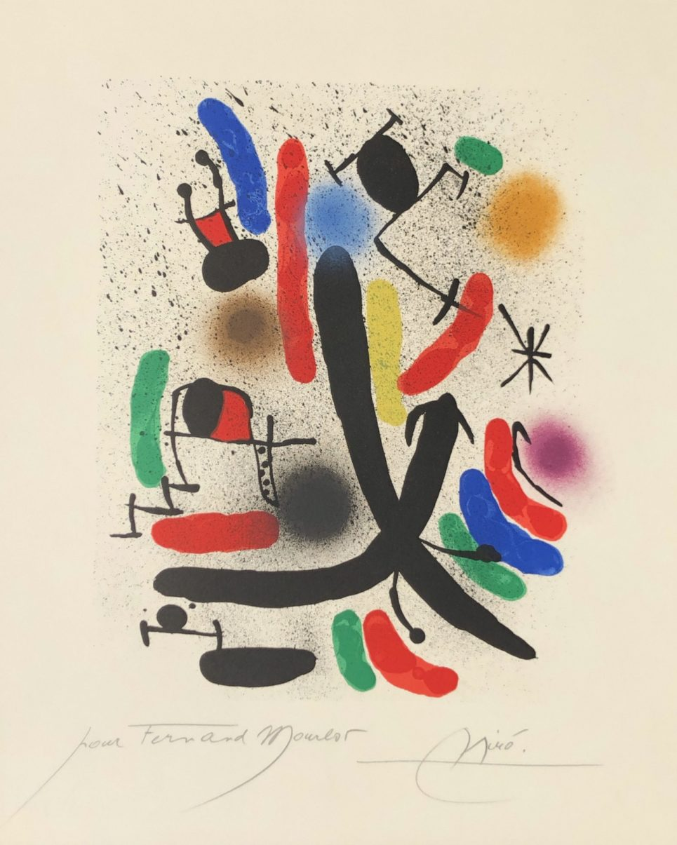 joan miro lithograph I m855 by joan miro
