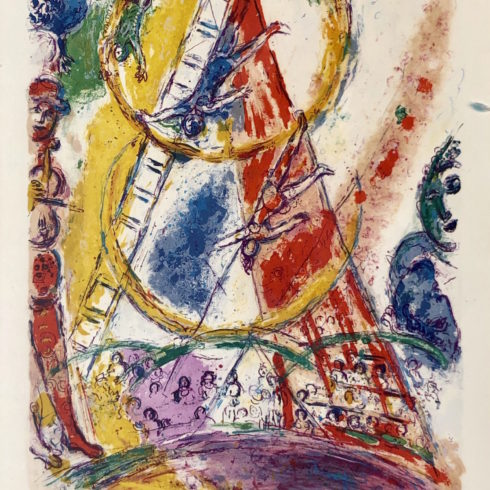 le cirque 524 by marc chagall