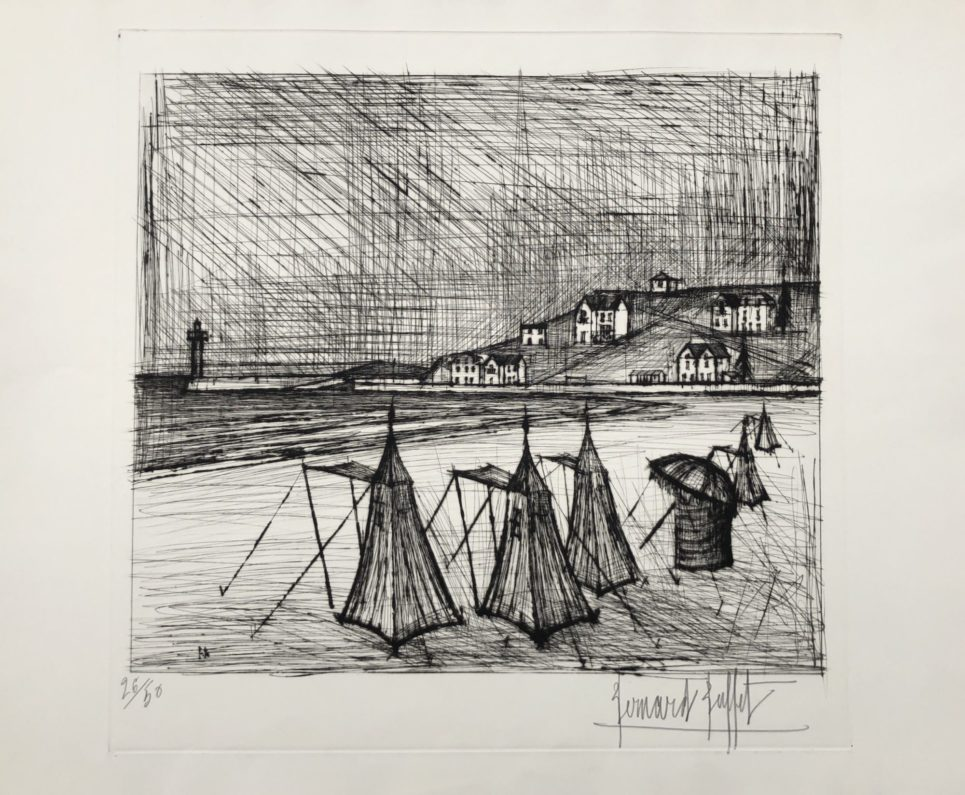 La Plage, 1957 by bernard buffet