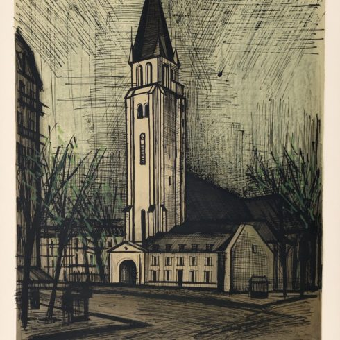Place Saint Germaine Des Pres 1965, by Bernard Buffet