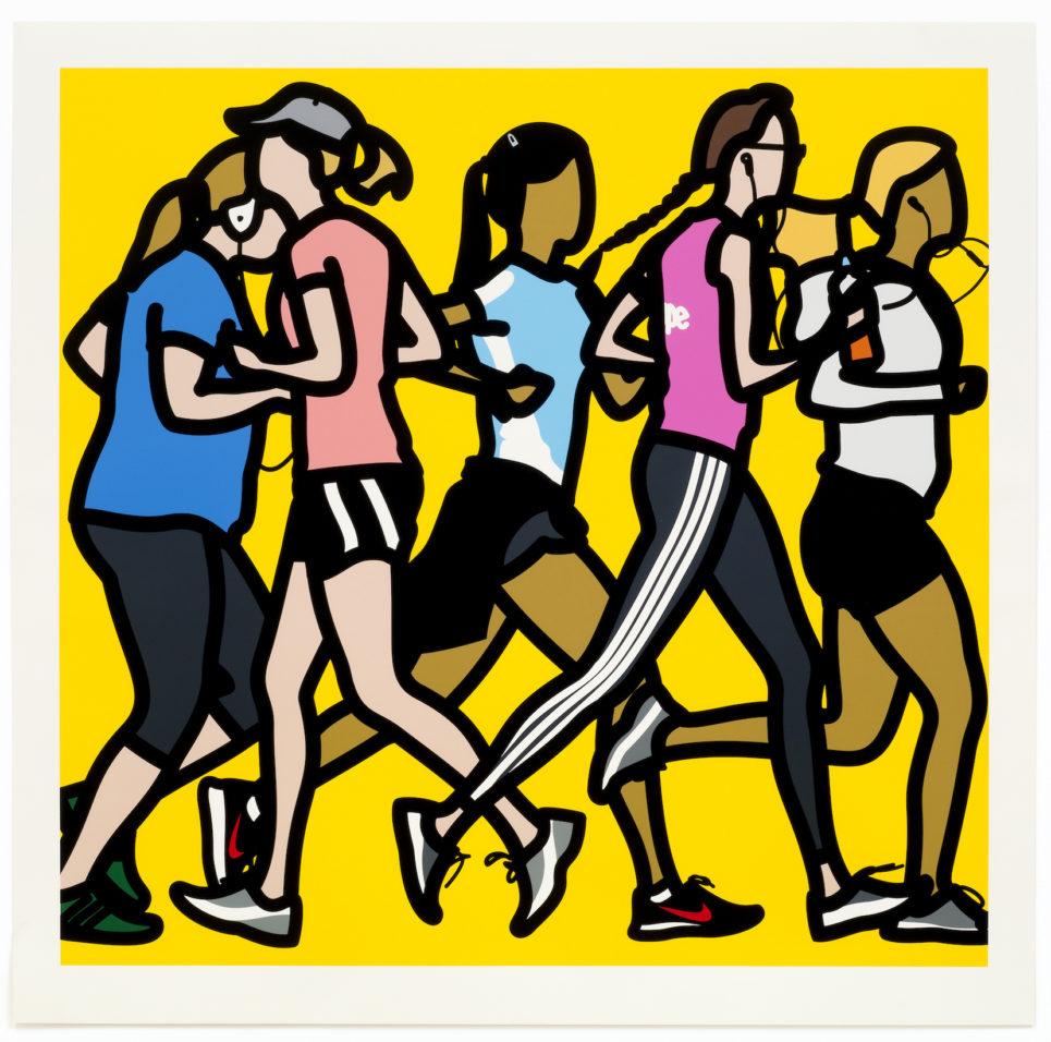 running women by julian opie