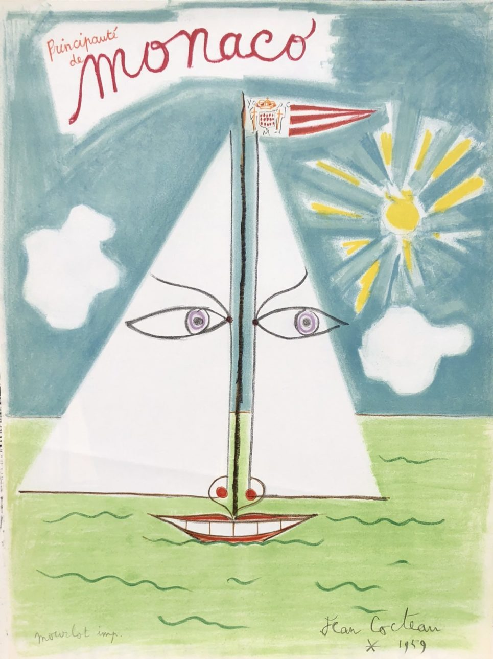 Monaco by Jean Cocteau