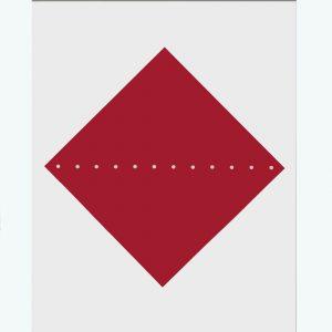 Lucio Fontana Concetto Spaziale Red