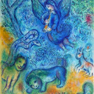 Marc Chagall Magic Flute Lithograph Poster