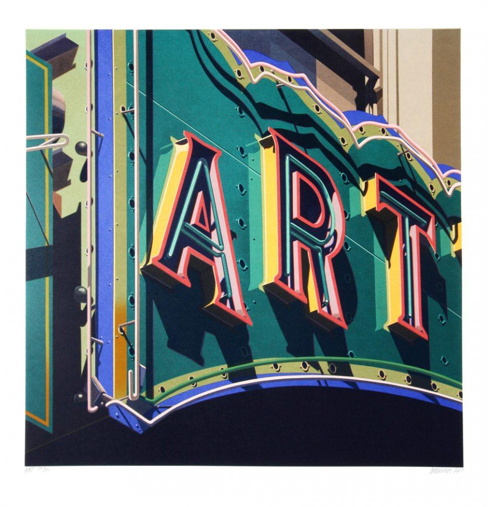 Robert Cottingham Art Sign Screenprint