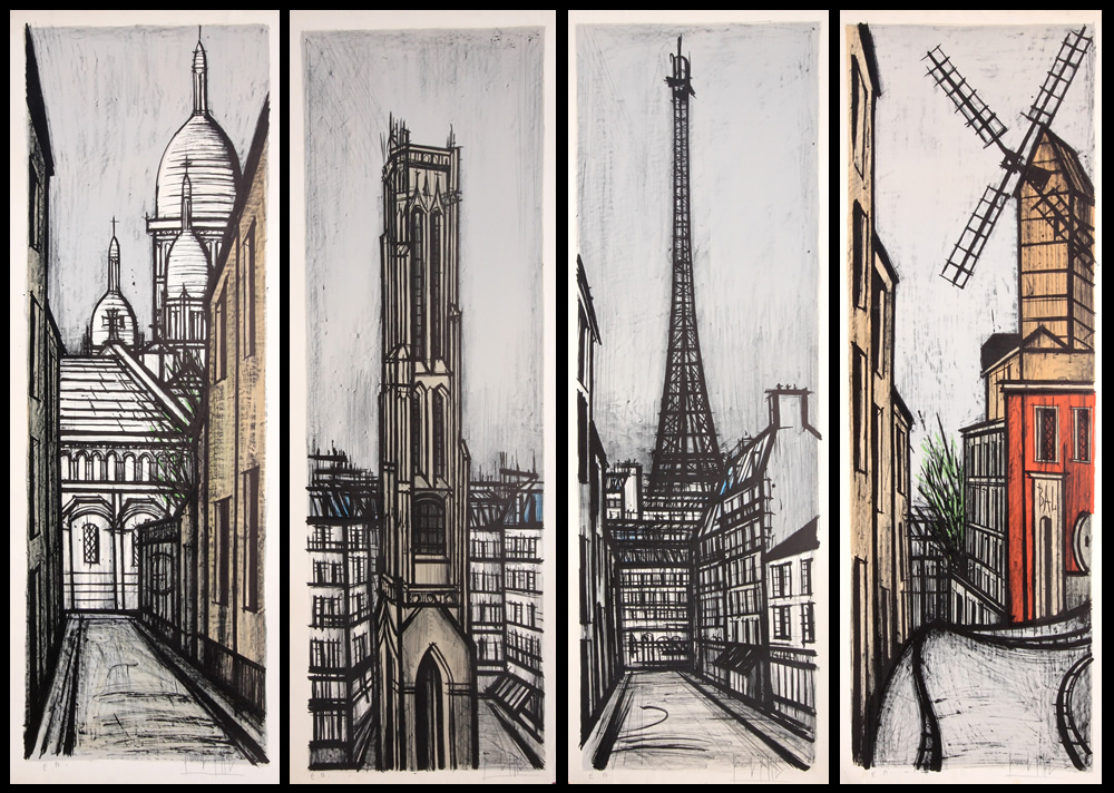 Bernard Buffet - Paravent Suite For Sale - Denis Bloch Fine Art Gallery