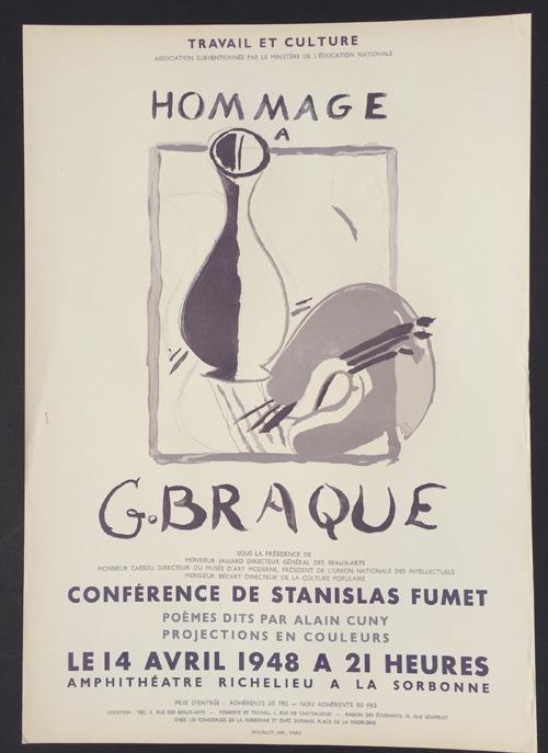 Braque Poster Hommage a G. Braque