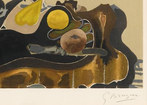 Georges Braque Theiere et Fruits