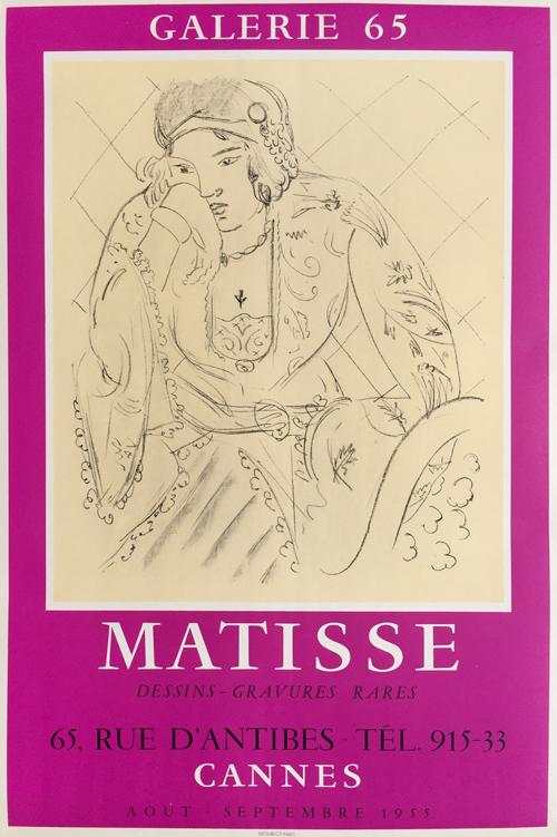 Henri Matisse Poster Galerie 65 - Cannes