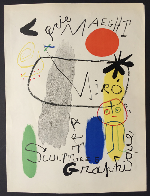 Joan Miro Affiche Exposition Galerie Maeght