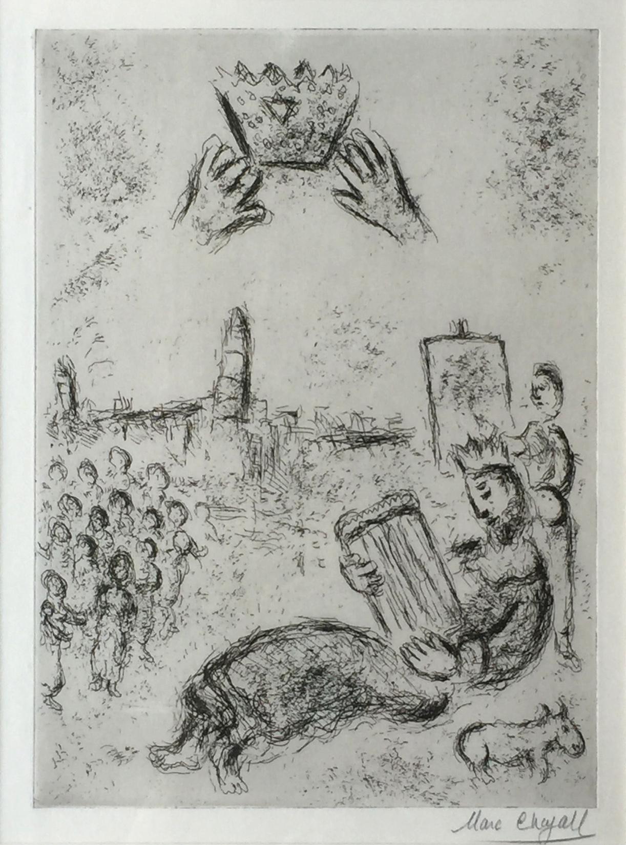Marc Chagall - La Tour de Roi David